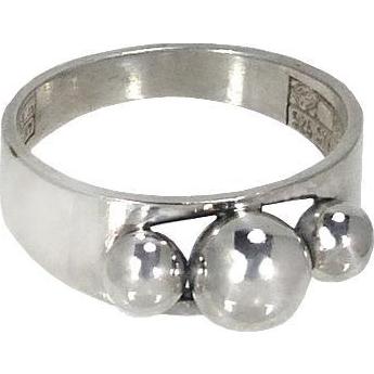 Modernist Silver Ring Erik Granit Finland 925 Sterling Silver 1970