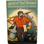 """Legend of Paul Bunyan"", Illustrated by Richard Bennett"