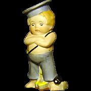 """Jaunty All Bisque 3 3/4"""" Sailor Boy"""
