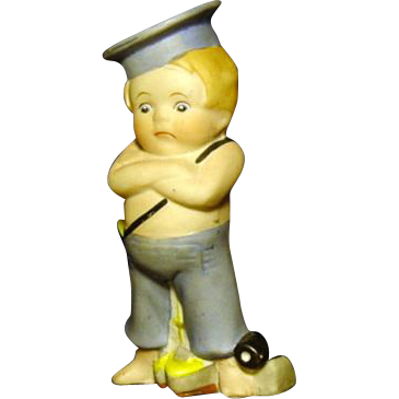 "Jaunty All Bisque 3 3/4"" Sailor Boy"