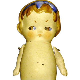 "Chubby All Bisque 3 1/2"" German Baby Girl"