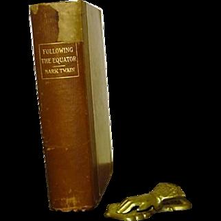 Following The Equator  Mark Twain 1st editiion 1st printing 1897