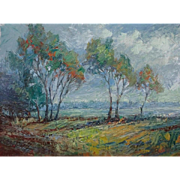 """""""Summer Afternoon""""    Oil on Gesso Panel"""