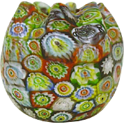 Art Glass Millefiori  Vase