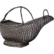 "French marked ""Panier a Vin"" Wine Bottle Basket"