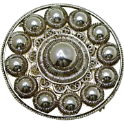 Antique Zeeuws Knoopje Brooch Holland 1800's