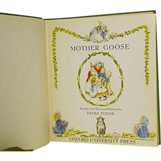 "1St Ed, 1st issue,""Mother Goose"" Tasha Tudor  1944"
