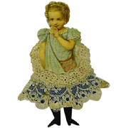 Victorian Style Scrap and Lace Ribbon Little Girl