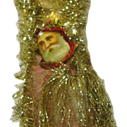 Victorian Die Cut Angel Scrap and Fabric with Glitter