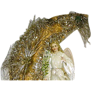 Lovely Victorian Die Cut Angel  on New Moon Decoration