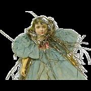 Victorian Christmas  Scrap Lace/ Ribbon/Paper  Girl