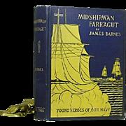 """1st ed. """"Midshipman Farr'agut"""" by James Barnes 1896"""