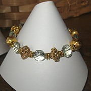 ~Royalty Collection~Green Quartz 22K Vermeil Bracelet