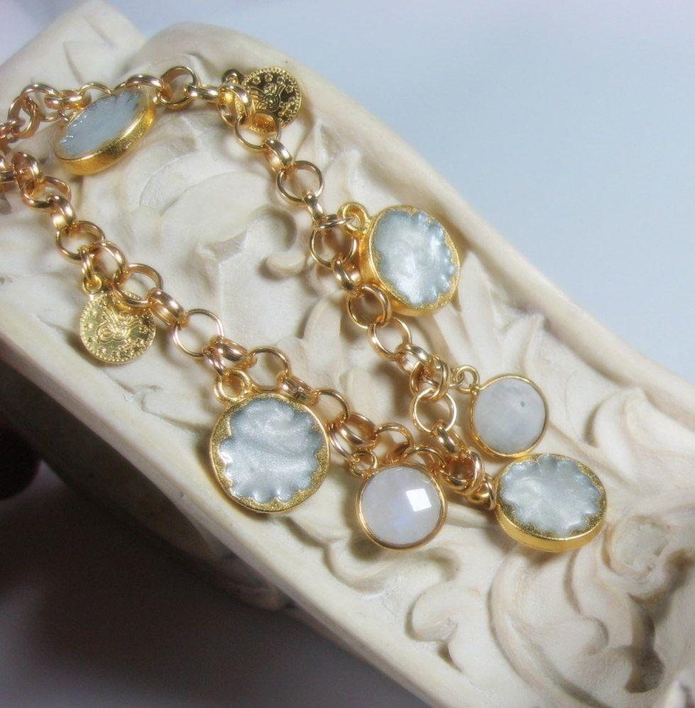 SALE - Sultan's Gold Charm Bracelet