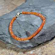 Carnelian Gemstone Summer Layering Gold Filled Bracelet