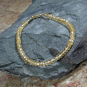 Citrine Gemstone Summer Layering Gold Filled Bracelet