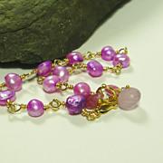 Spring Blooms Purple Pearl Vermeil Bracelet