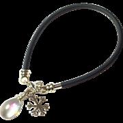 Snowflake Charm Cord Bracelet