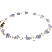 Tanzanite Gold Bracelet, December Birthstone