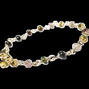 Tourmaline Gemstone Gold Fill Bracelet, Petite