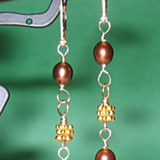 Freshwater Pearl Vermeil Earrings