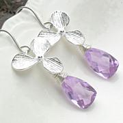 Orchid Lavender Quartz Sterling Earrings