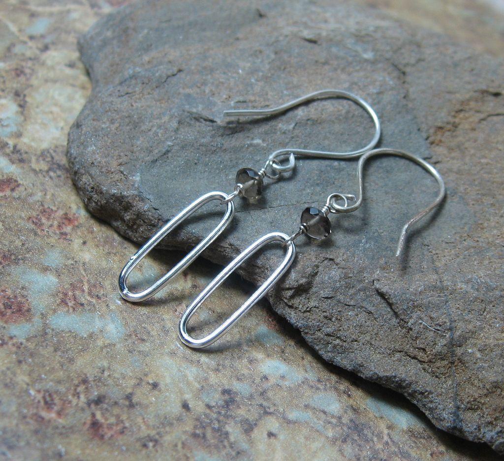 50% OFF SALE Smokey Quartz Sterling Dangle Earrings