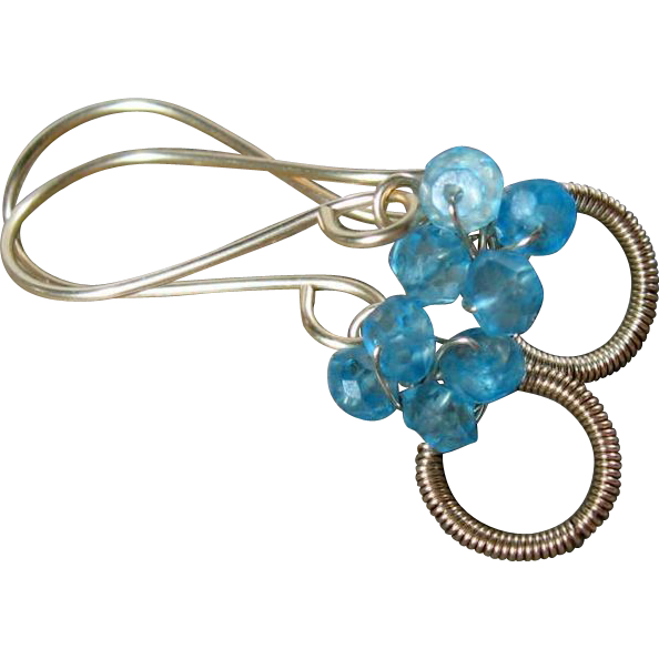"Blue Topaz ""Sweet Petites"" Gold Filled Earrings"