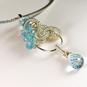 Sky Blue Topaz Gemstone Sterling Necklace