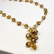 Freshwater Pearl Gold Necklace