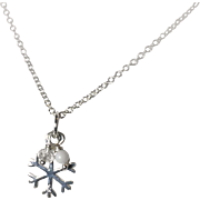 Sterling Petite Snowflake Pendant Necklace