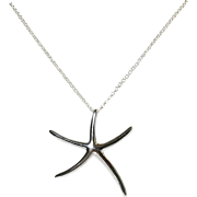 Dancing Starfish Necklace Sterling Silver Charm
