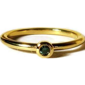 20% OFF 18K Gold Mini Diamond Stacking Ring Size 6