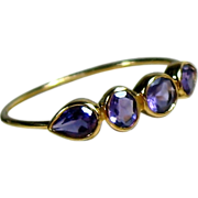 Size 7 Amethyst 14K Rose Gold Ring - February Birthstone
