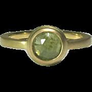 Natural Green Sapphire 14K Gold Ring