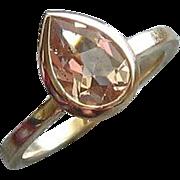 Morganite Pear 14K Yellow Gold Ring