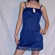 Vintage 1960 Lorraine Navy Blue Full slip mini NEW NWT NOS size 32