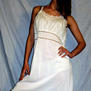 Vintage 1950's Seamprufe White Full Slip NEW NWT NOS   size 38