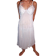 Vintage 1950's Seamprufe Full Slip Bright White NWT NEW NOS embroidered size 34