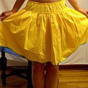 Vintage 1960 Youth Form yellow  Taffeta Half Slip Size Small NEW NWT NOS