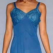 Vintage 1950 Kayser Blue Full Slip size 32