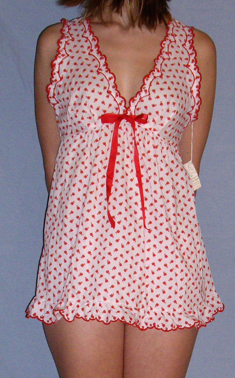 Vintage 1960 Barbizon Seraphim Batiste Red Amp White Baby