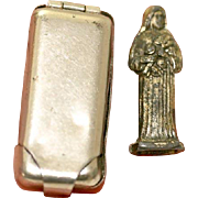 Catholic WWII Soldier's Pocket Shrine of Saint Teresa