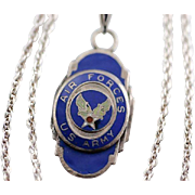 Vintage US Army Air Forces Pendant Necklace