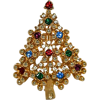 Eisenberg Christmas Tree Brooch Pin ~ Book Piece