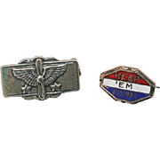 Set of WW2  AAC Army Air Corps Sweetheart  Pins