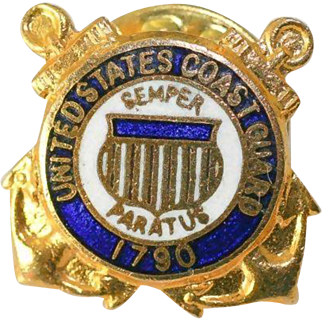 Vintage USCG US Coast Guard Lapel Pin or Hat Pin