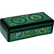 Vintage Hinged Wooden Mexico Olinalá Lacquer Ware Hand Painted Artisan Made Trinket Storage Jewelry Multi Purpose Box