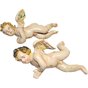 Pair of Vintage Neapolitan Creche Putti / Cherubs - Full Figures