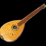 Vintage Mandolin for Neapolitan Creche Scene